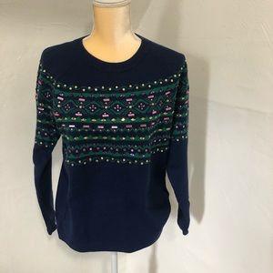 Talbots embellished sweater